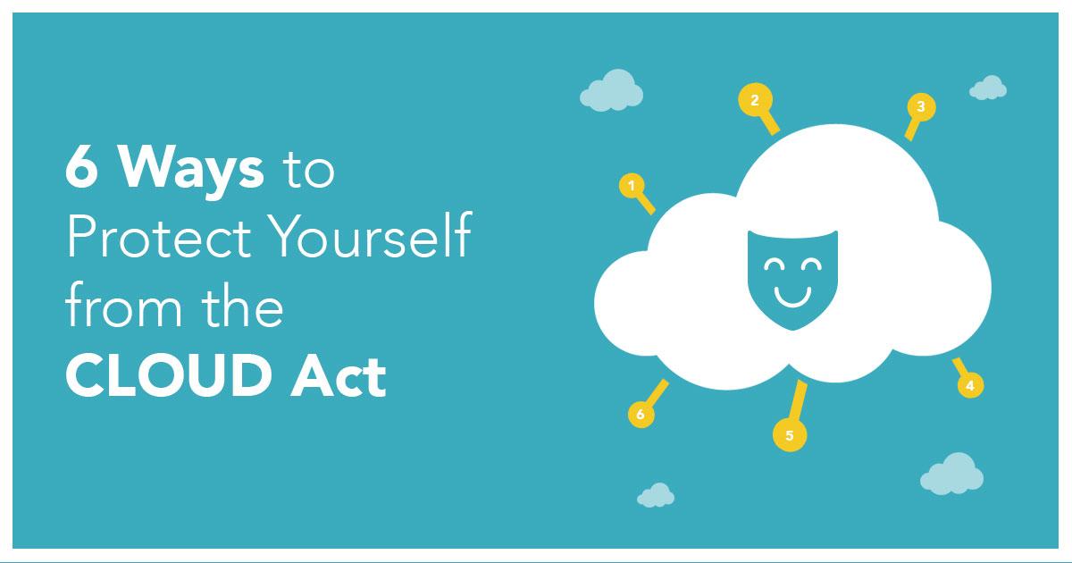 6 sätt att skydda dig från CLOUD-lagen